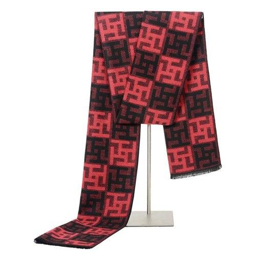 SAN VITALE Men's Scarf Printed Color Block Geometric Comfy Warm Hand wash Striped Casual Winter Scarves Accessory Tassel