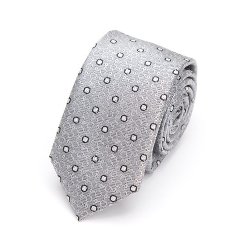 Men's Tie Embroidery Dots Pattern Fashion Business Casual Accessory Polka Dot