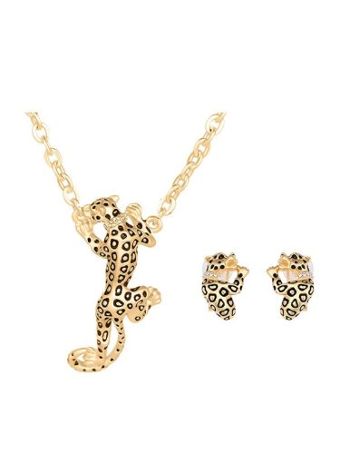 Personalized Leopard Shape Gold Plated Jewelry Accessory Fashion