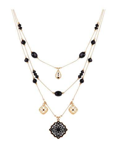 Stylish Multi Layers Hollow Out Pendant Women's Fashion Catenary/Necklace Size:30*30mm