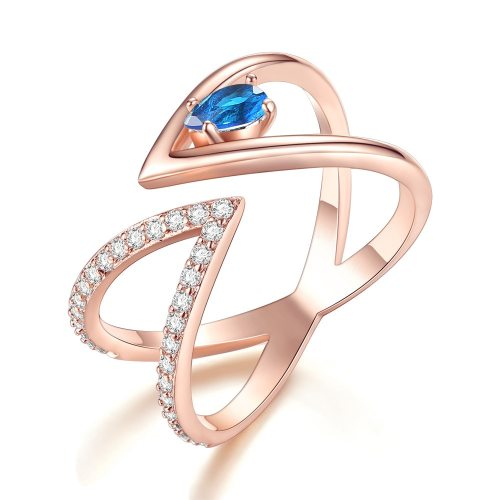 Women's Ring Exquisite Imitation Rhinestone Accessory Geometric Casual Fashion Hollow out