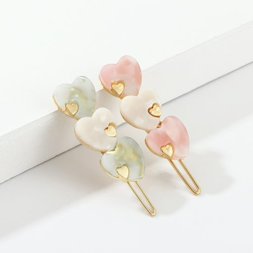 Women's Hair Clip One Piece Heart Design Ladylike Hair Wipe clean Fine Hair Clips
