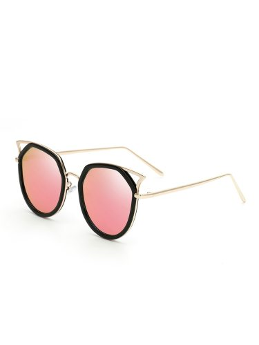 Women's Hollow Out Plastic Irregular Glasses Trendy Wipe clean Cat Eye Fashion Sunglasses Accessory