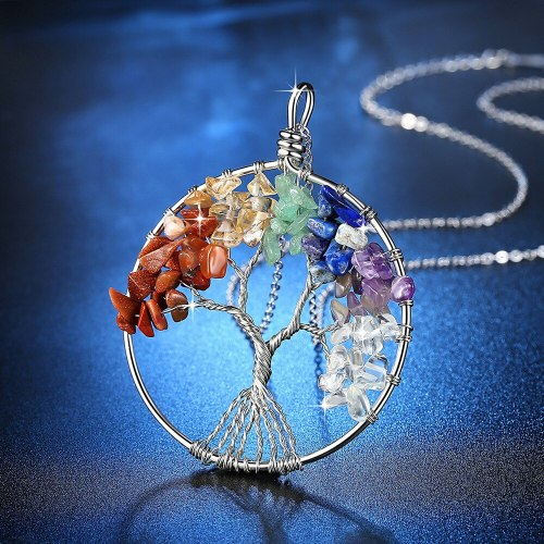 Women's Necklace Natural Color Block Pendant Trendy Necklace Fashion Accessory