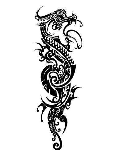 Men's Tattoo Sticker Dragon Pattern Simulation Full Arm Tattoo Accessory