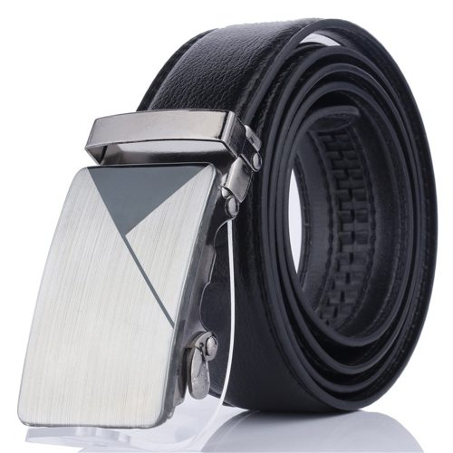 Men's Belt Automatic Buckle Fashion All Match Business Metal Decoration Solid Color Men's Belts Accessory Basic
