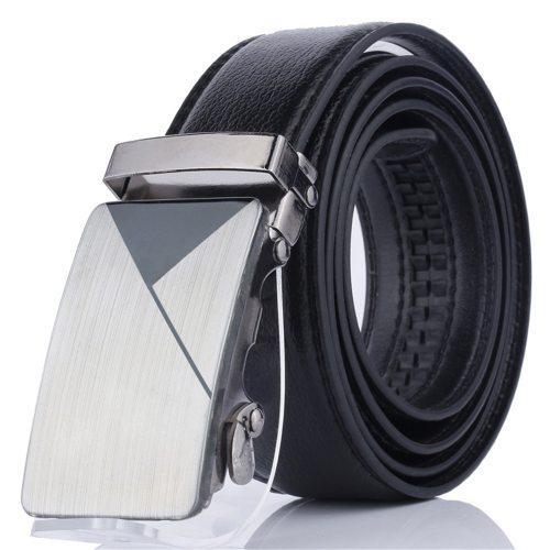 Men's Belt Automatic Buckle Fashion All Match Business Metal Decoration Solid Color Men's Belts Accessory Basic