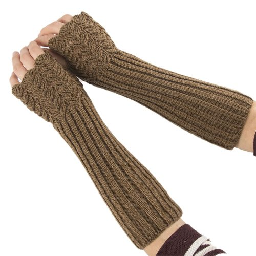 Women's Warm Gloves All Matched Solid Color Knitted Gloves Geometric Machine wash Touchscreen Top Fashion