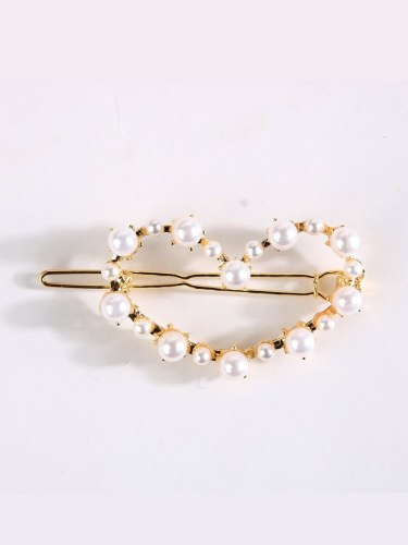 3 Pcs Women's Hair Clips Ladylike Imitation Pearl Design Hair Fine Hair Accessories