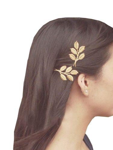 2 Pcs Women's Hair Clips Set Creative Leaf Shaped All Match Hair Hair Accessories Fashion Wipe clean