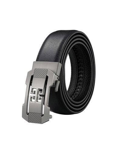 Zaitun Men's Belt Smooth Automatic Buckle Solid Color Anti-abrasion Fashion Men's Belts Basic Accessory easy to useBelts measures 52  x 14  and is to