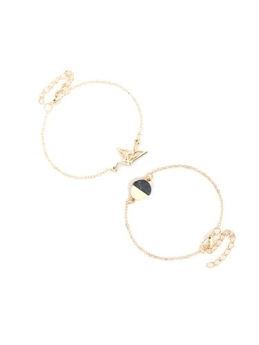 2 Pcs Women's Bracelet Set Solid Color Animal Design Casual Bracelet Accessories Basic