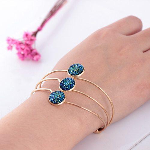 Women's Fashion Bracelet Simple Sequins Decor Elegant Vintage Catenary/Necklace Casual Geometric Metal Decoration SILVERAGE