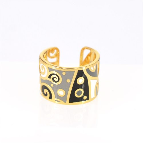 Women's Fashion Ring Stylish Open Style Wide Color Block Ring OL Hollow out Vintage Accessories Infinite Charming Jewelry Geometric