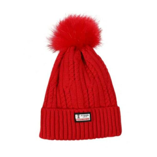 Women's Beanie Solid Color Fashion Comfy Warm Hat Hand wash Sweet Letter Spring/Autumn Pom Poms Accessory