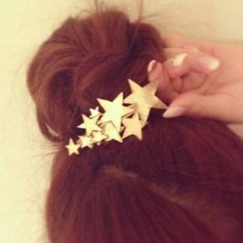 1 Pc Women's Hair Clip Stylish Star Design Hair Hair Accessories Wipe clean Fashion