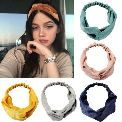 5 Pcs Women's Hairbands Ladylike Hair Hair Accessories Fine Bow Vintage Solid Color