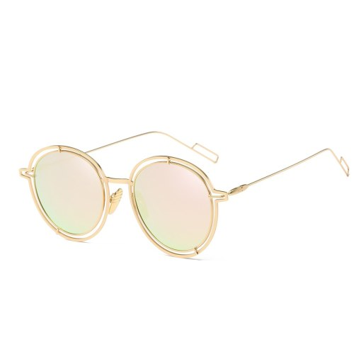 Women's Full Frame All Match Stylish Eyewear Round Shape Elegant Fashion Casual Sunglasses Solid Color Oversized Wipe clean Others Accessory