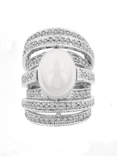 Women's Fashion Ring Multi-layer Imitation Pearl Ring Accessory Vintage