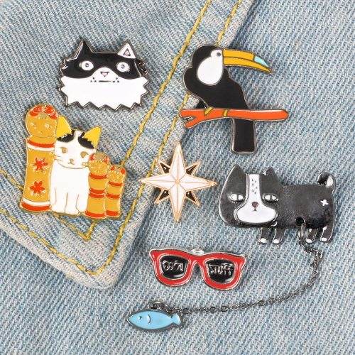 3 Pcs Women's Brooches Creative Animal Design Brooches Top Fashion Carving Animal Print