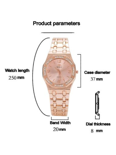 3Pcs Women's Bracelet Watch Set Ladylike Chic Elegant Trendy Accessory Alloy Women's Watches Covered Button Quartz Pointer Rhinestone Stainless Steel