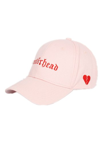 Women's Baseball Cap Leisure Solid Color Heart Letter Trendy Floral Embroidery Baseball Caps Hand wash Accessories All the year round