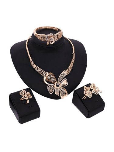 Hollow Out Filigree Exquisite Design 5 Pieces Jewelry Fashion Accessory