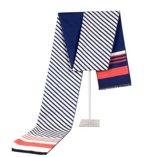 Men's Scarf Cozy Striped Color Block Thicken Warm Winter Scarves Accessory Contrast Color Print Wipe clean Sexy