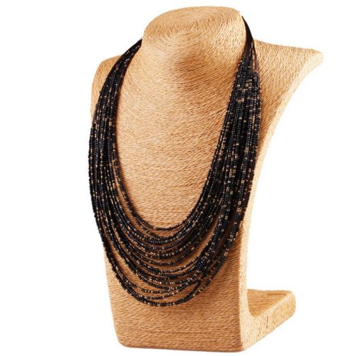 Women's Necklace Ethnic Style Multi-layer Bead Decor Fashion Beading Geometric Vintage Accessories