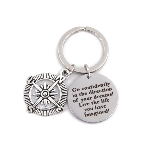 Men's Key Ring Letter Pattern Brief Design All Match Accessories