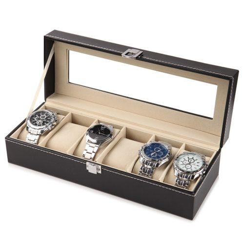 Men's Watch Storage Box Plain Style Patchwork Gift Casual Geometric 0-3Pcs Others