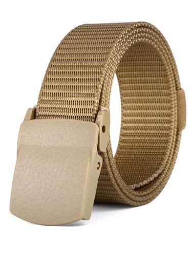 Men's Belt Adjustable Sports Outdoor Smooth Buckle Men's Belts Accessory Basic Solid Color