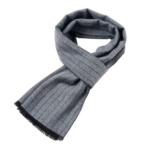 SAN VITALE Men's Scarf Color Block Comfy Warm Winter Scarves Striped Accessory Hand wash Tassel Top Fashion