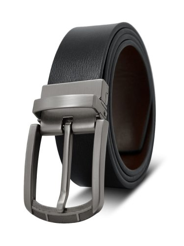 Men's Belt Double Side Pin Buckle Casual Fashion Rivet Accessory Men's Belts Solid Color
