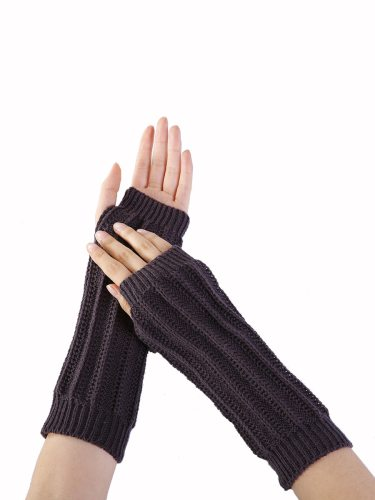 Women's Warm Gloves Elegant Stylish Fingerless Design Knitting Outdoor Solid Touchscreen Hand wash