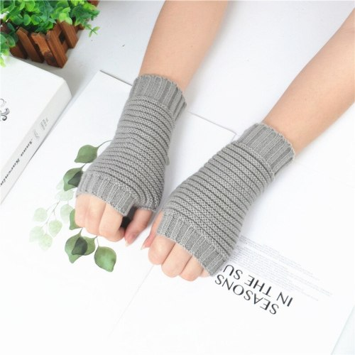 Women's Warm Gloves Fingerless Solid Color Breathable Gloves Casual Geometric Touchscreen Hand wash