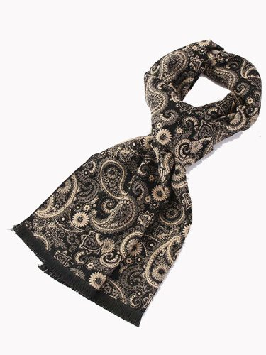 Men's Scarf Jacquard Weave Warm Comfy None Vintage Scarves Accessory Hand wash Winter Scarves