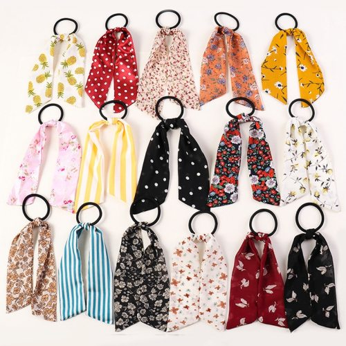8 Pieces Women's s Dotted Print Hair Fashion Floral Flowers Hair Elastic Ethnic