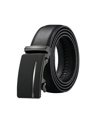 Zaitun Men's Belt Plain Style Solid Color Classic All Match Belt Automatic Buckle Men's Belts Fashion easy to useBelts measures 52  x 14  and is to