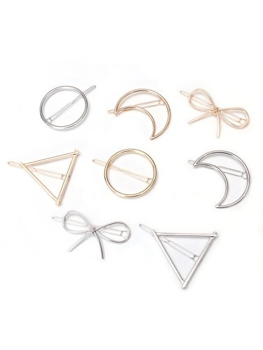 8Pcs Women's Hair Clips Simple Design Exquisite Charming Hair Hair Accessories Fine Wipe clean