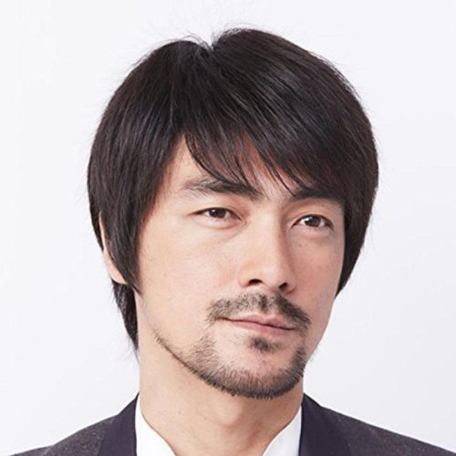 Men's Synthetic Hair Wig Off Center Parting Short Top Fashion Straight Basic Hand wash