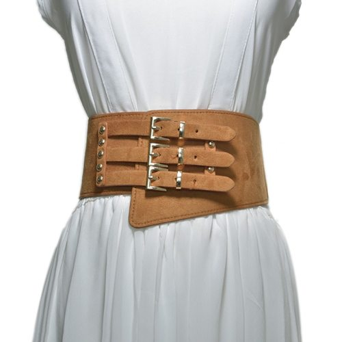 Women's Corset Stylish Pure Color Belt Buckle One-loop Sexy Hand wash Fashion Women's Belts Accessories