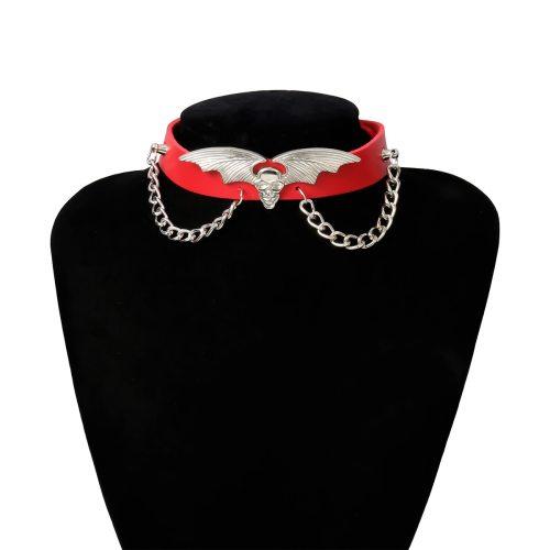 Women's With Pendant Collar Bat Chain Metal Decoration Vintage Top Fashion Accessories Solid Color