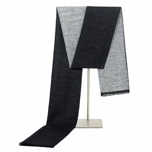 SAN VITALE Men's Scarf Color Block Comfy Warm Winter Scarves Casual Accessory Striped Tassel Hand wash
