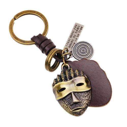Men's Key Ring Vintage Creative Human Face Shape Key Ring Accessories