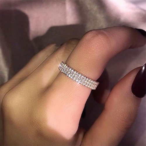 1 Piece Women's Fashion Ring Elegant Ring Rhinestone Accessories Celebrity Geometric Fine
