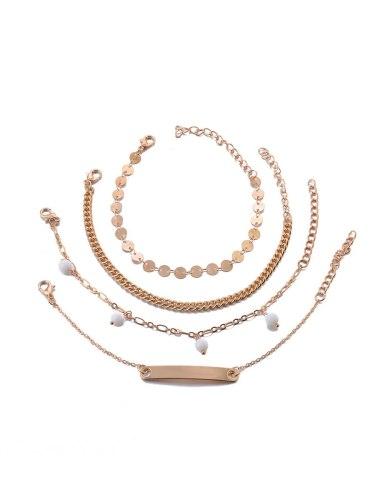 Women's 4 Pcs Fashion Bracelets Chic Stylish All Match Accessory Vintage