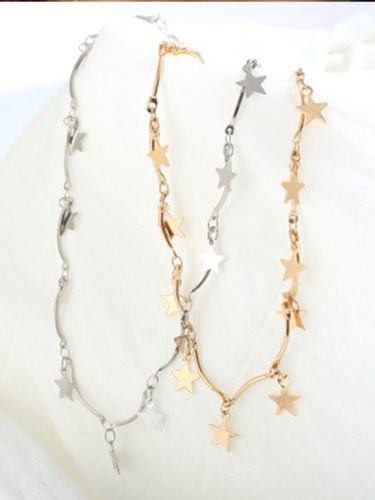 Women's Necklace Stars Pendant Elegant Simple Trendy Necklace Fashion Catenary/Necklace