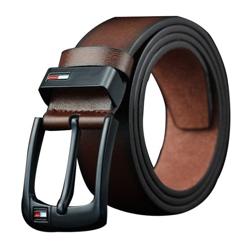Men's Belt Pin Buckle Solid Color Casual Character Fashion Metal Decoration Men's Belts Accessory