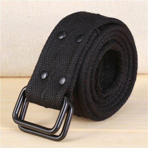 Men's Canvas Belt High Quality Durable Simple Design Solid Color Accessory Men's Belts Contrast Color Fashion